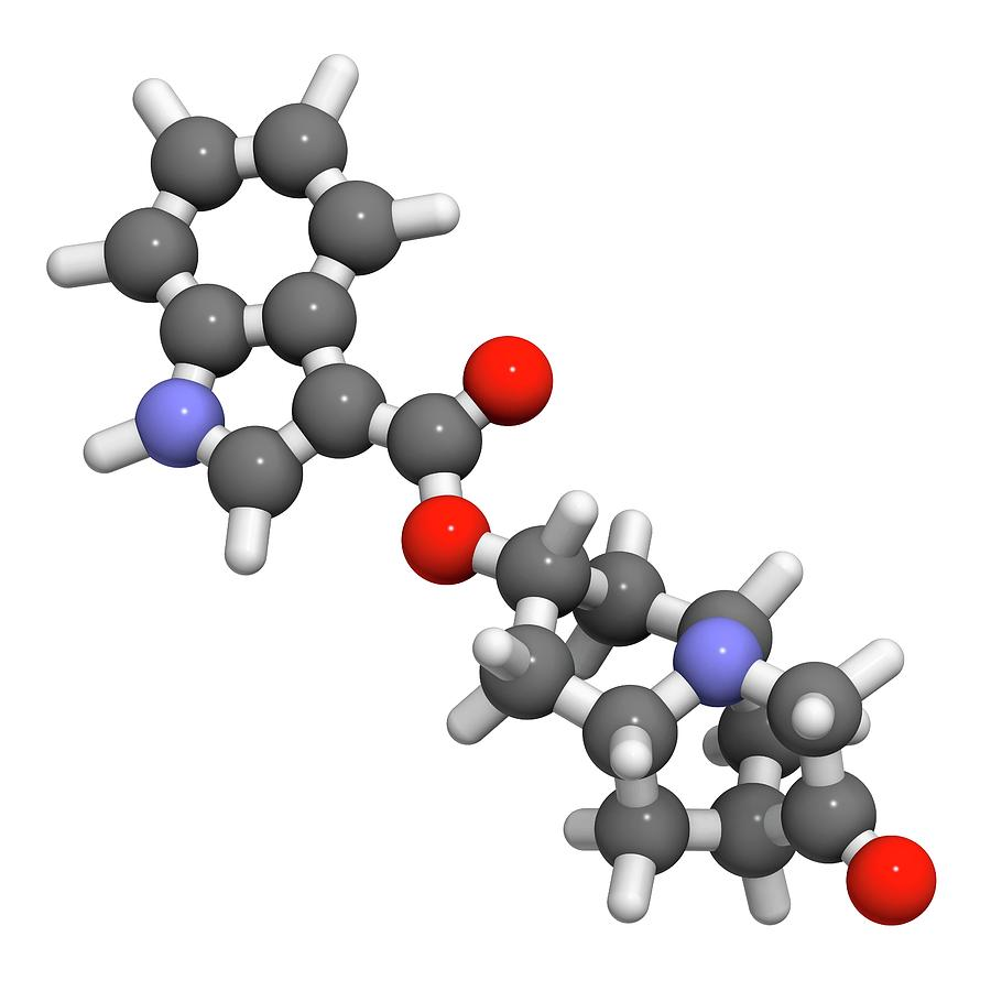 Serotonin Photograph - Dolasetron Nausea Drug Molecule by Molekuul
