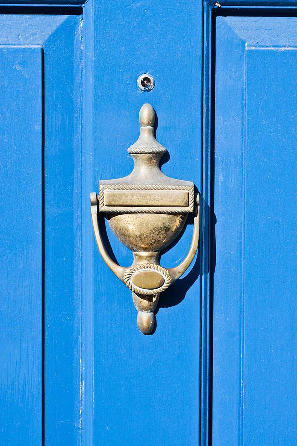 Antique Photograph - Door Knocker by Tom Gowanlock