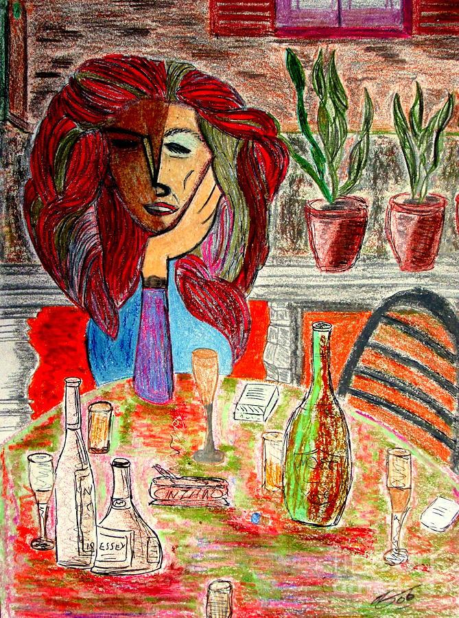 Bill Drawing - Dorothys Party by Bill OConnor