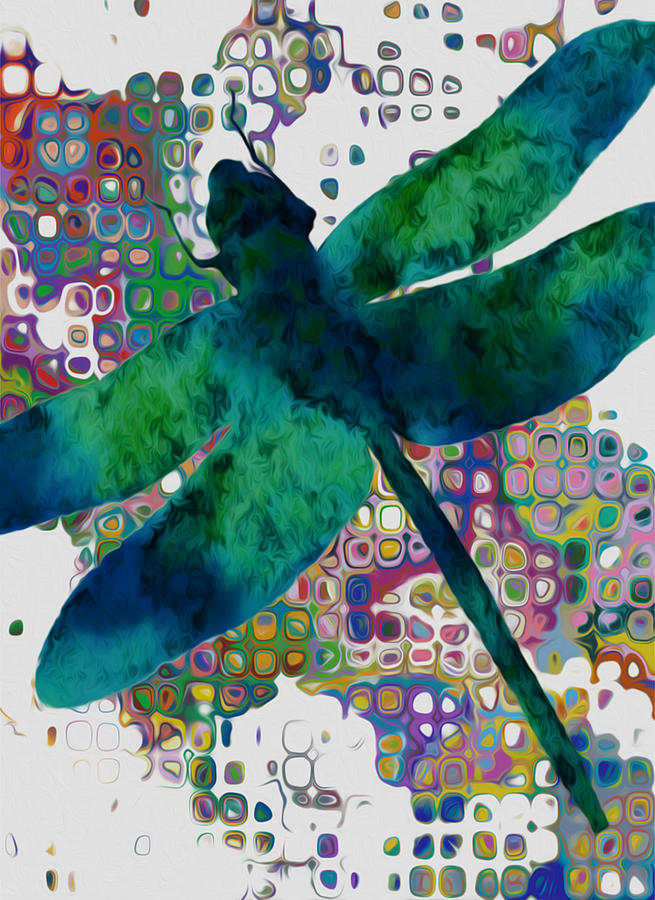 Dragonfly Painting - Dragonfly by Jack Zulli