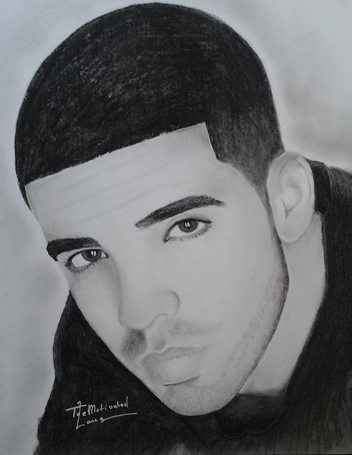 Drake Charcoal Drawing by Lance Freeman