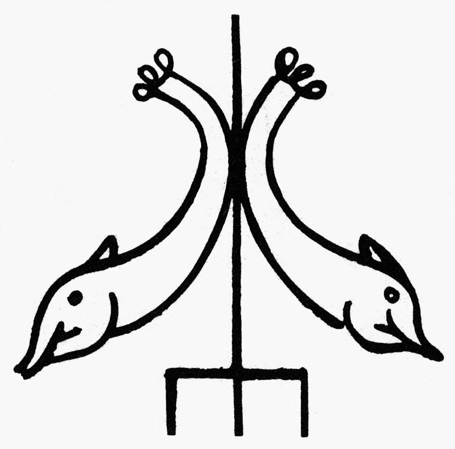 3rd Century Painting - Early Christian Symbol by Granger