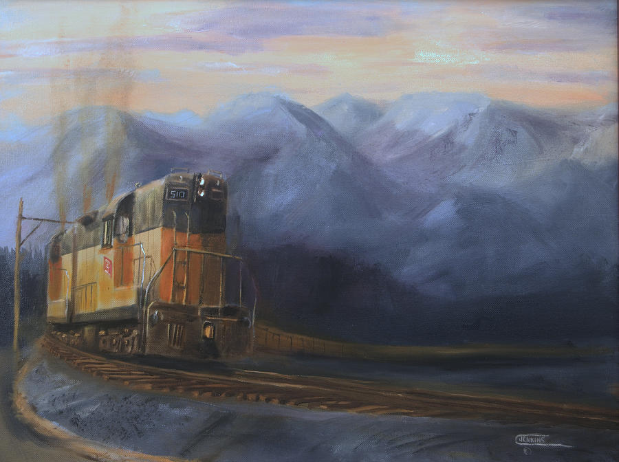 Train Painting - East Of The Belt Range by Christopher Jenkins