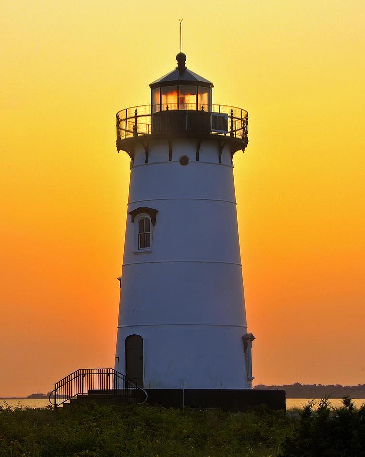 Lighthouse Photograph - Edgartown Light by Dan Myers