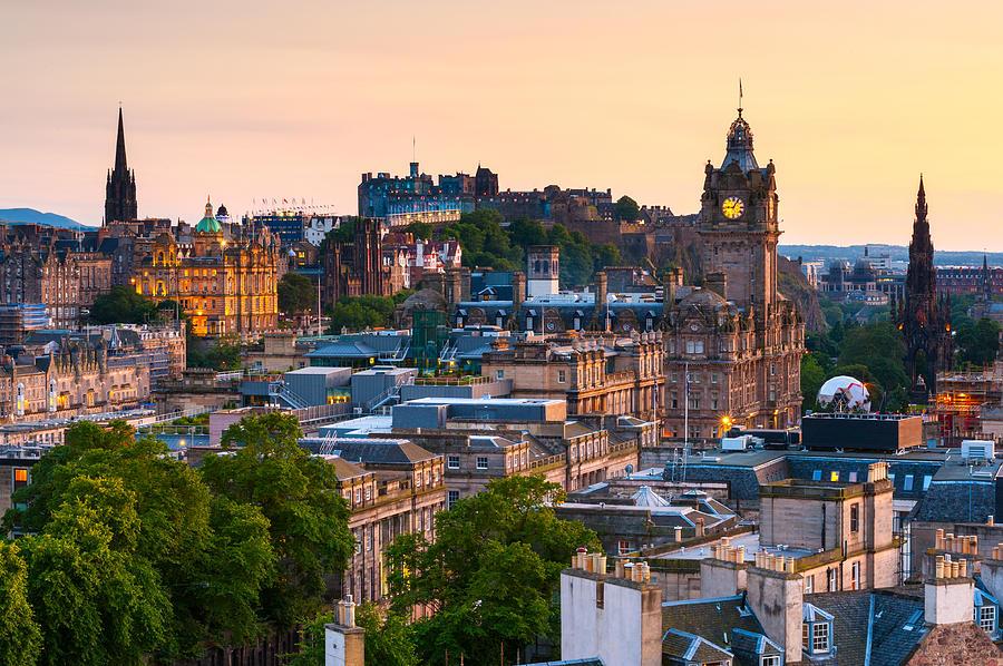Edinburgh Cityscape, Scotland Photograph by ChrisHepburn