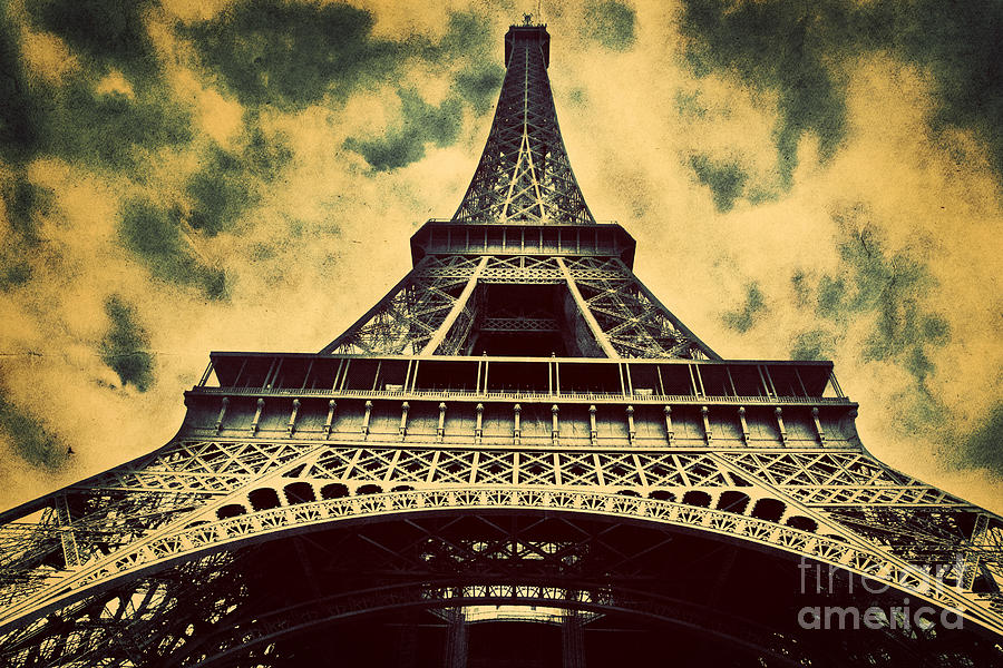 Eiffel Tower In Paris Fance In Retro Style Photograph by ...
