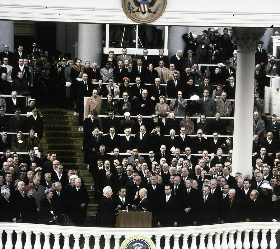 1957 Photograph - Eisenhower Inauguration by Granger