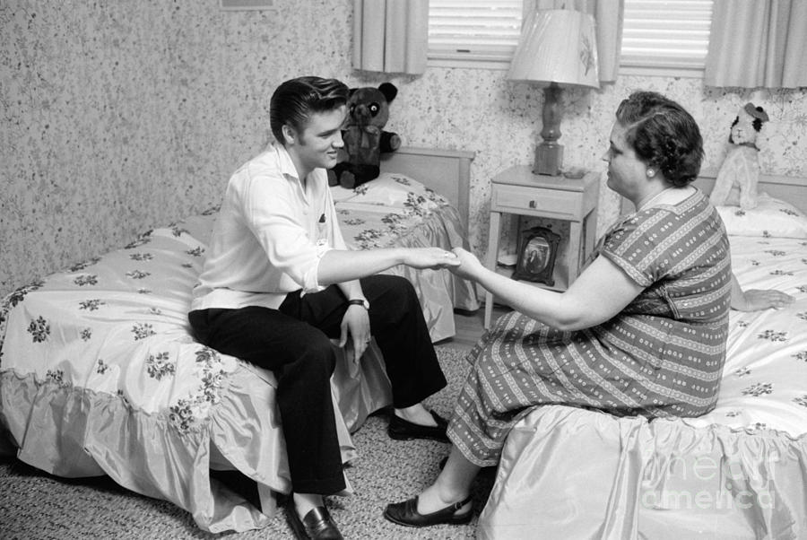 Elvis Presley And His Mother Gladys 1956 Photograph