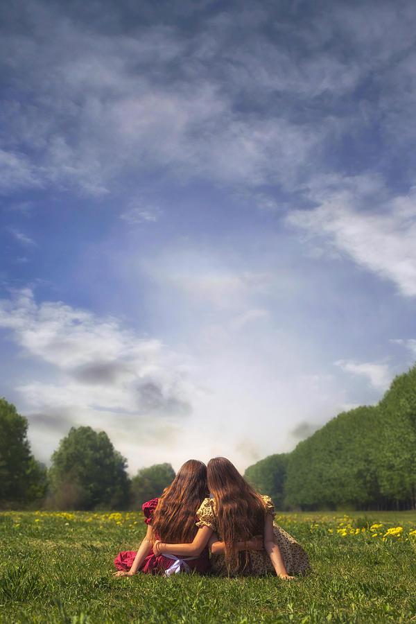 Girl Photograph - Embrace by Joana Kruse