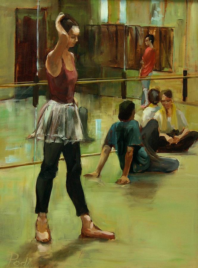 Dancers Painting - English National Ballet Dancers In The Studio by Podi Lawrence
