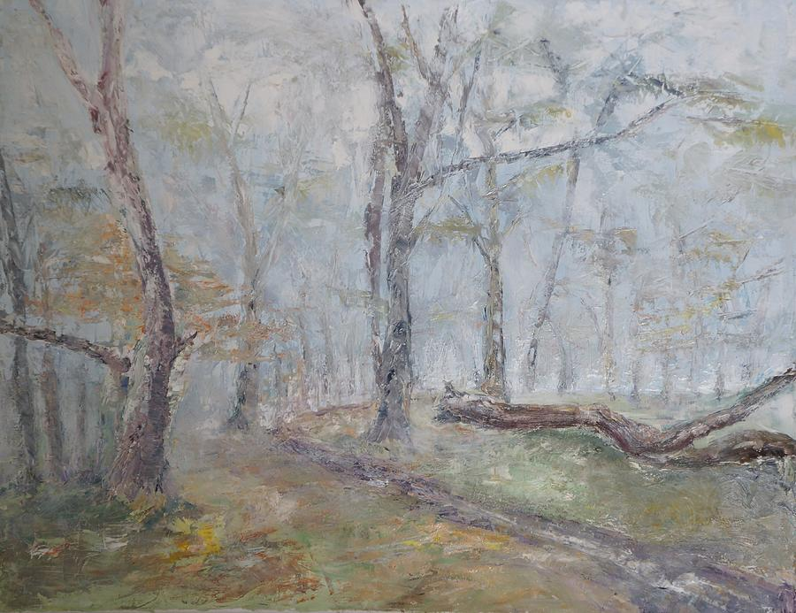 Epping Mist Painting by David  Hawkins