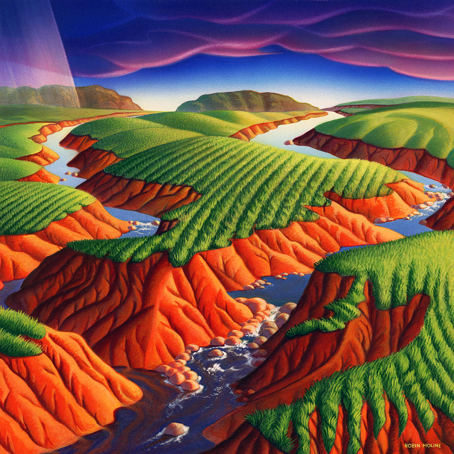 Landscape Painting - Erosion by Robin Moline