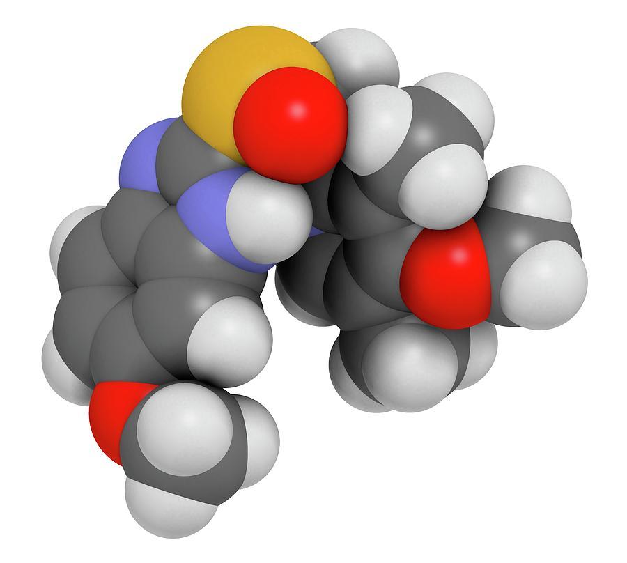 Esomeprazole Peptic Ulcer Drug Molecule Photograph By Molekuul