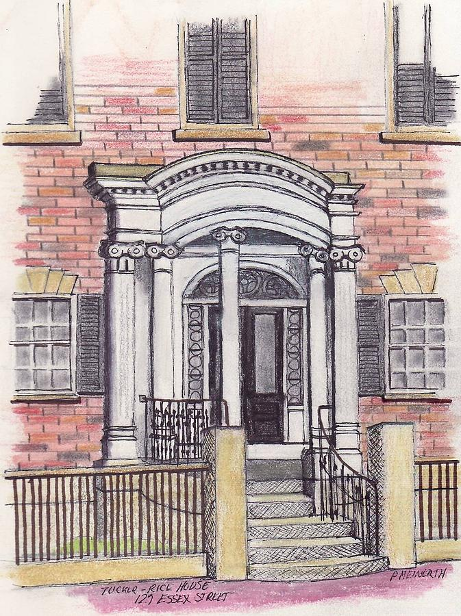 Essex Street Front Door Drawing by Paul Meinerth