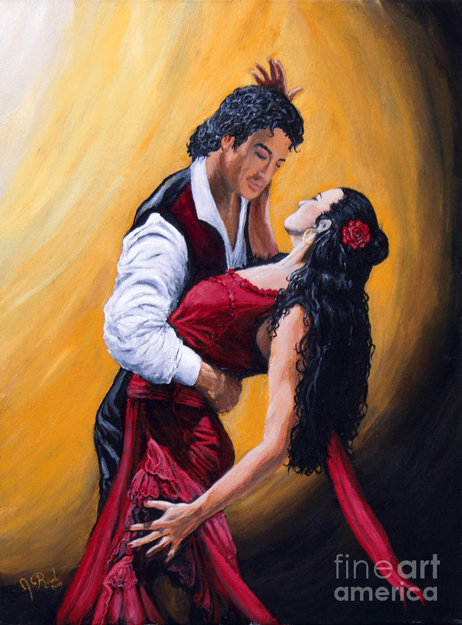 Flamenco Painting - Esta Noche Bailamos by Jeremy Reed
