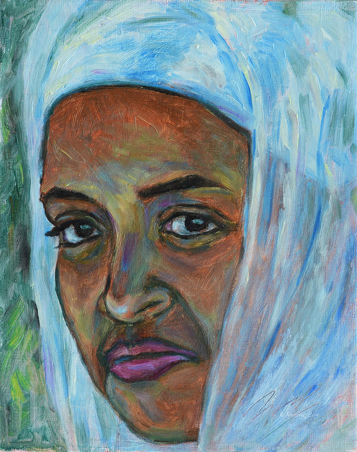 Ethiopian Lady Painting By Xueling Zou