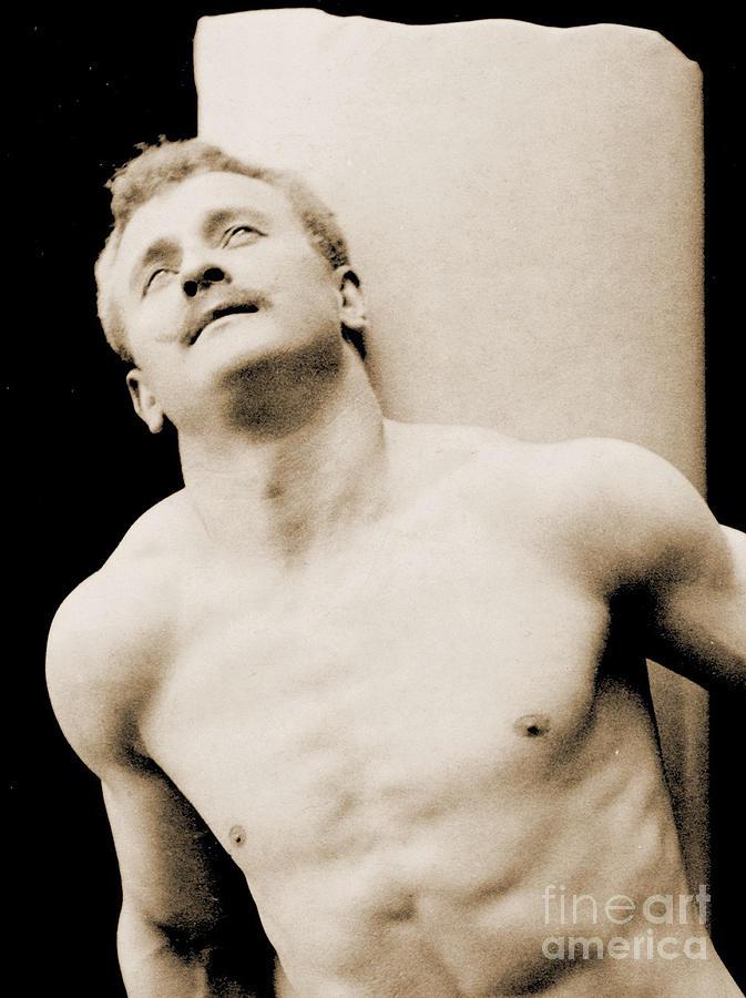 Male Photograph - Eugen Sandow by George Steckel