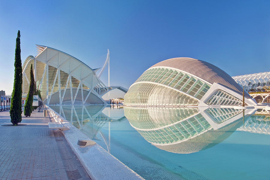 Architecture Photograph - Europe, Spain, Valencia, City Of Arts by Rob Tilley