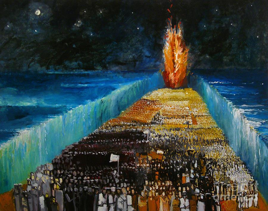 Religious Painting - Exodus by Richard Mcbee