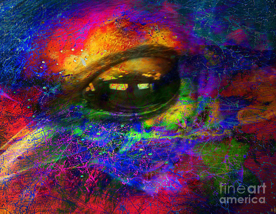 Abstract Digital Art - Eye Of Universe by Irina Hays