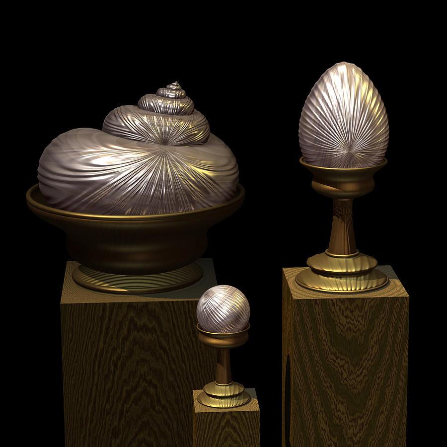 Faberge Style White Gold Digital Art