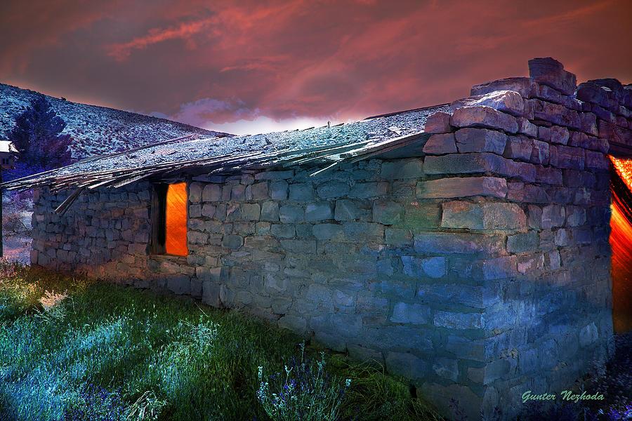 Ghost Town Photograph - Fairy Tale Cabin by Gunter Nezhoda