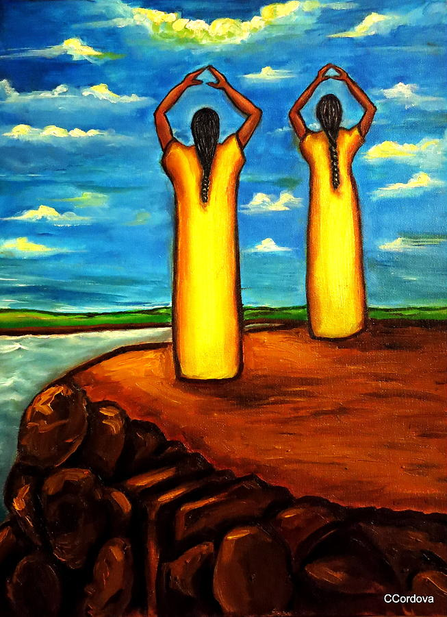 Women Painting - Faith And Hope by Carmen Cordova