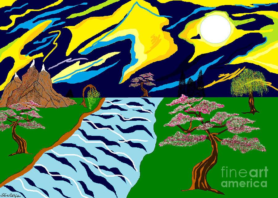 Trees Painting - Fantasy Trees by Lewanda Laboy