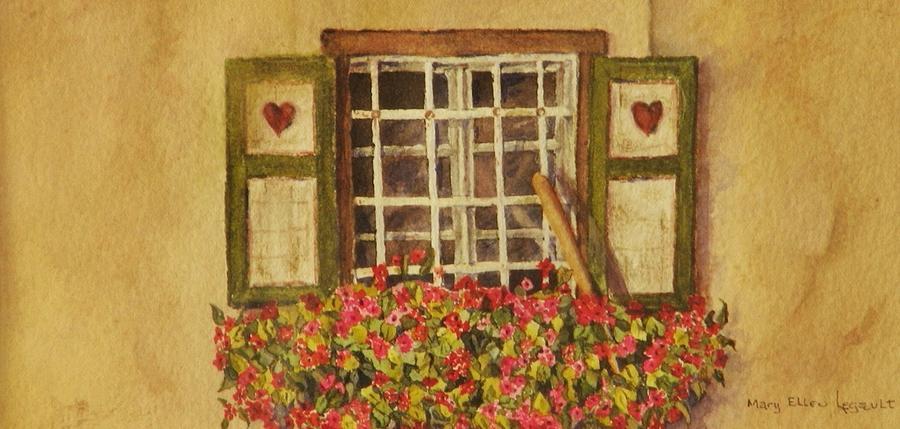 Rural Painting - Farm Window by Mary Ellen Mueller Legault