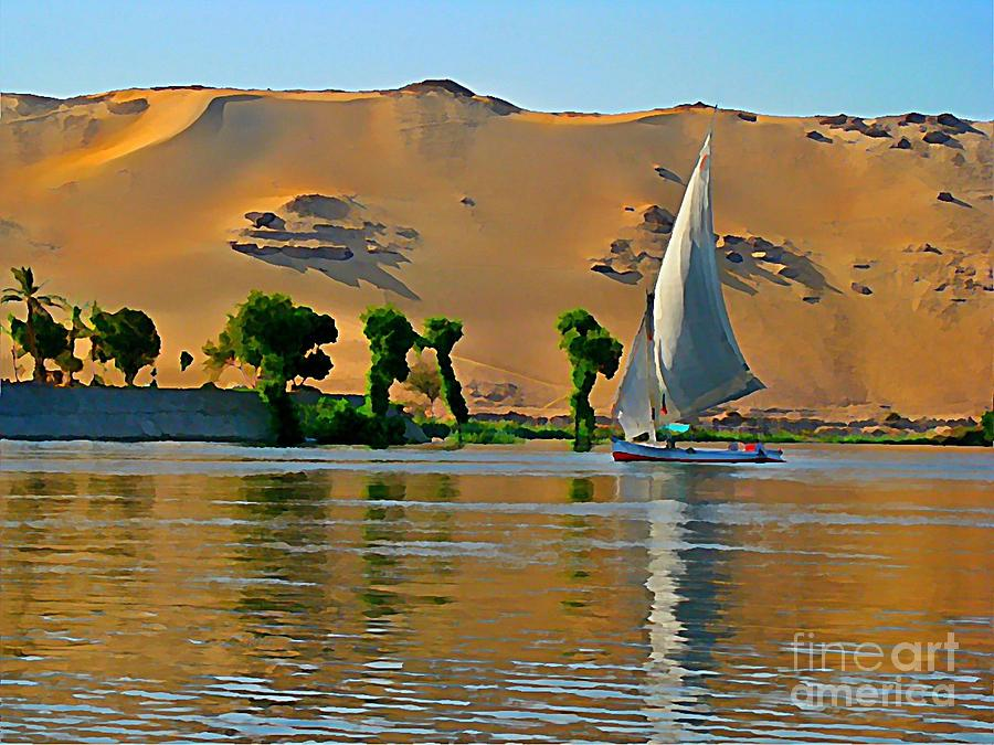 Felluca On The Nile Painting