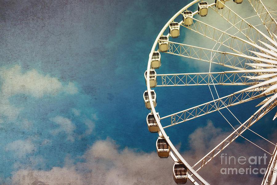 Fun Photograph - Ferris Wheel Retro by Jane Rix