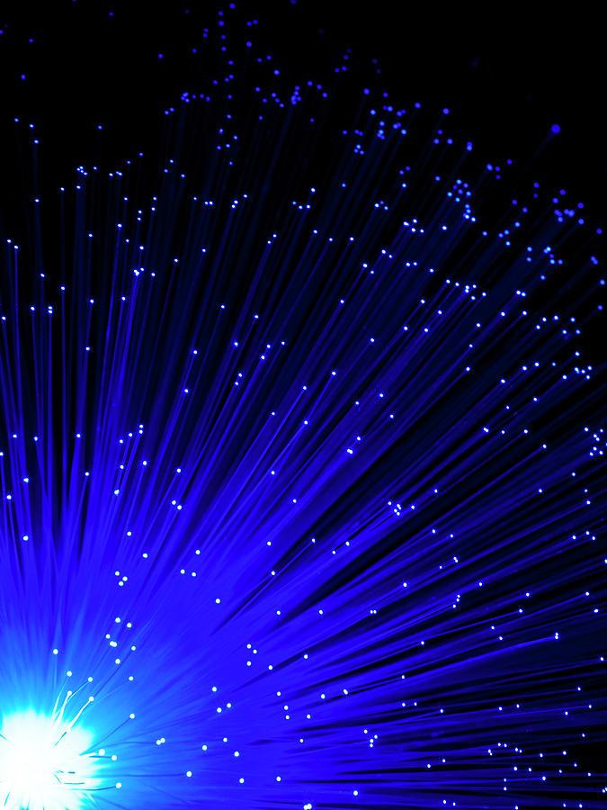 Fiber Optics On Black Background Photograph by Level1studio
