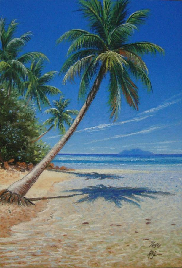 Landscape Painting - Fiji Beach by Pravin  Sen