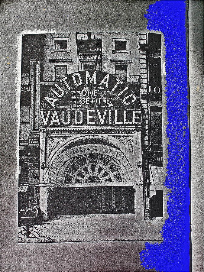 Film Homage Automatic 1 Cent Vaudeville Peep Show Arcade C.1890s New York City Collage 2013 Photograph by David Lee Guss