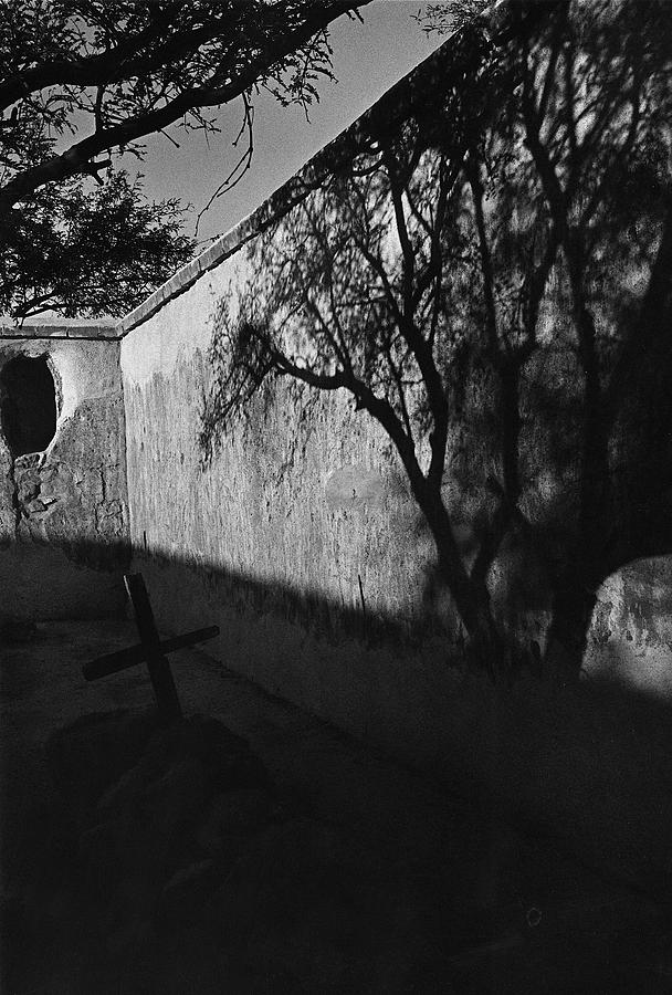 Film Noir Kim Novak Vertigo 1958 Graveyard Tumacacori Mission Tumacacori Arizona 1979-2008 Photograph by David Lee Guss