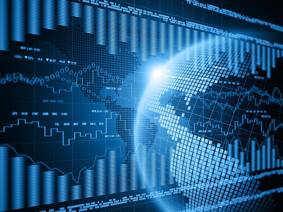 Financial Charts Photograph by Vertigo3d