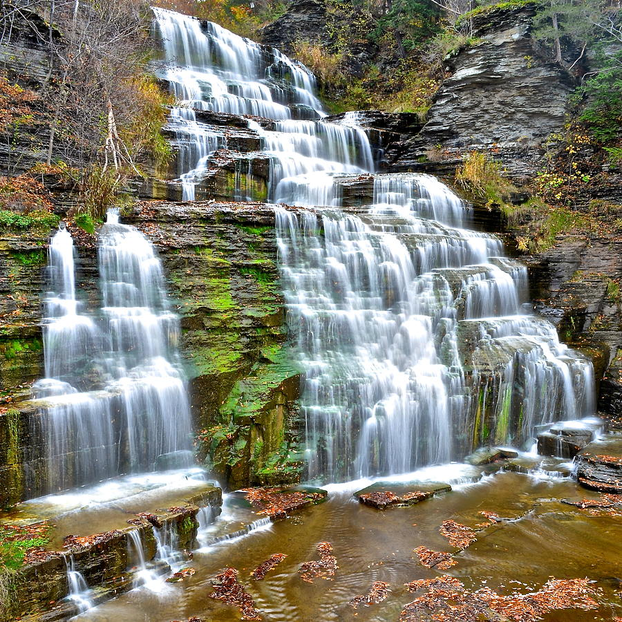 Waterfall Photograph - Finger Lakes Waterfall by Frozen in Time Fine Art Photography