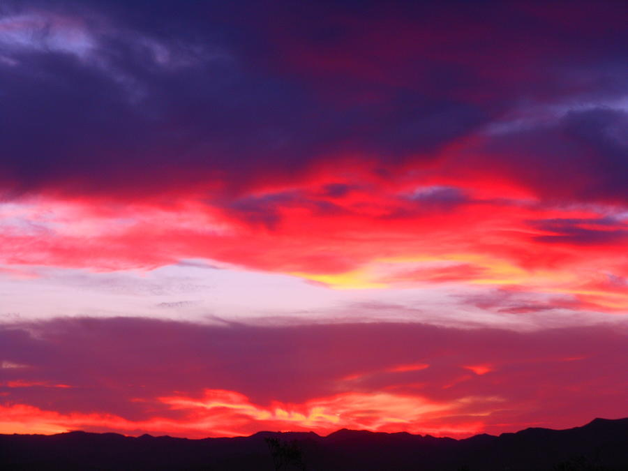Landscape Photograph - Fire In The Sky by James Welch