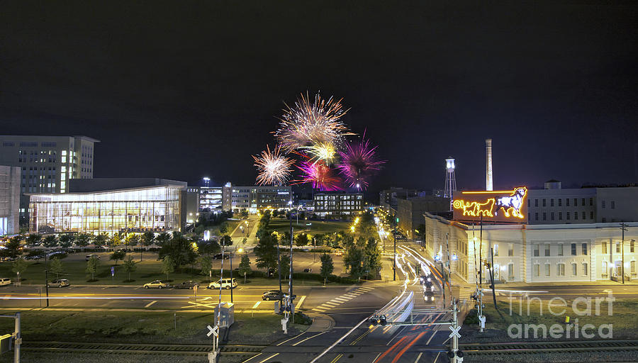 Fireworks Over Durham Nc Photograph By Tom Wooters
