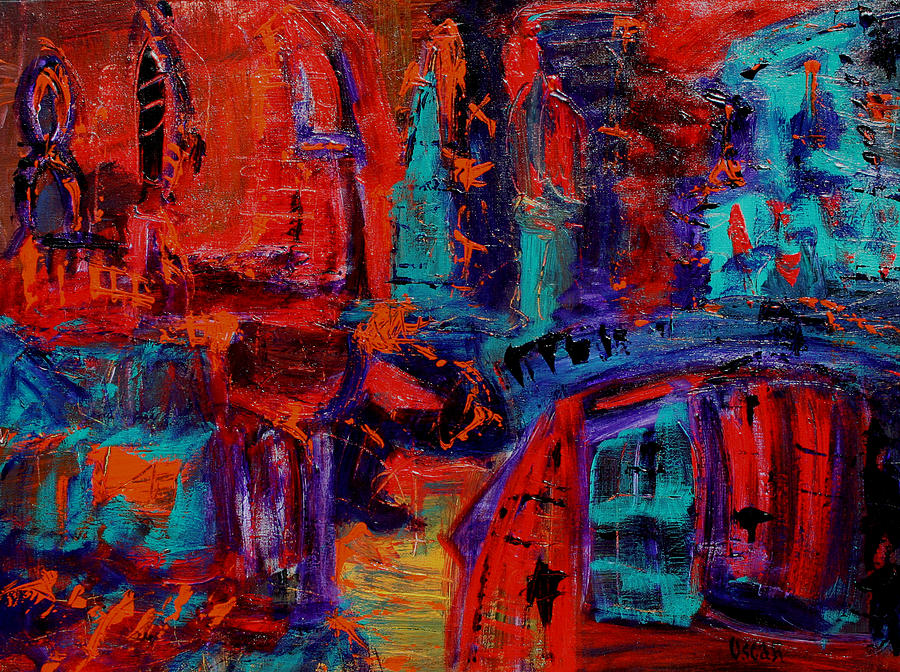 Abstract Painting - Flemish by Oscar Penalber
