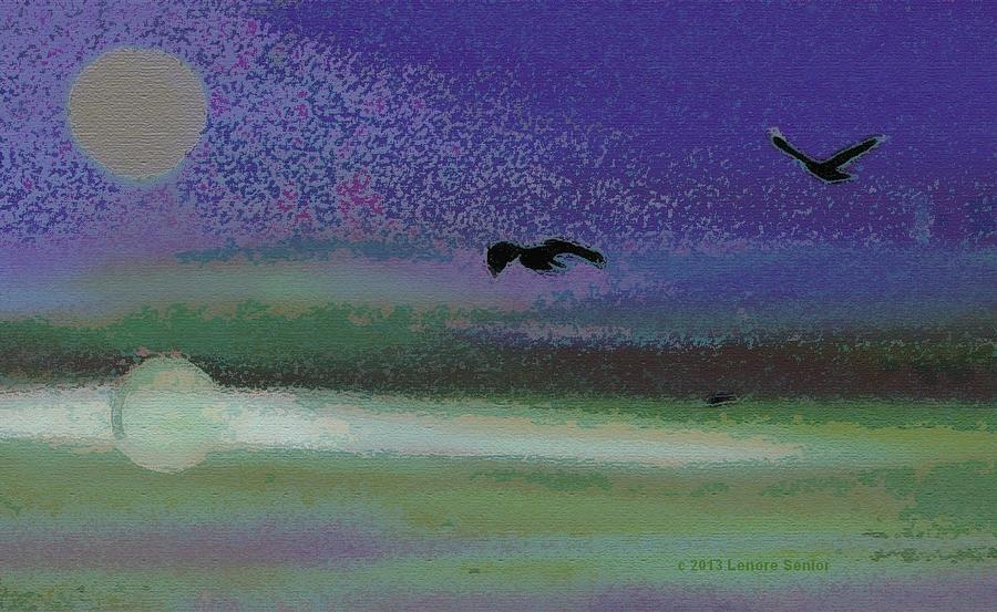 Expressive Digital Art - Flight by Lenore Senior