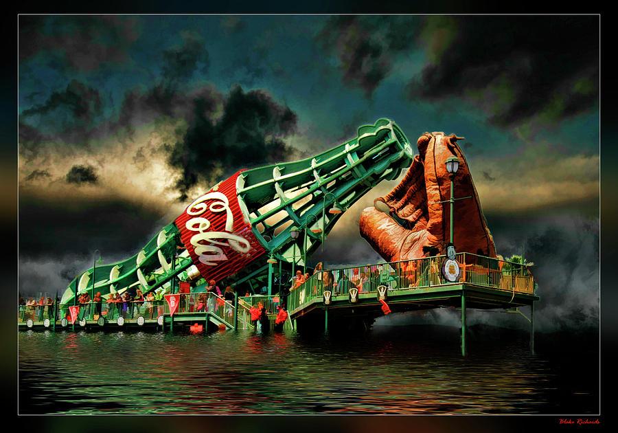 San Francisco Photograph - Floating Coke Bottle by Blake Richards
