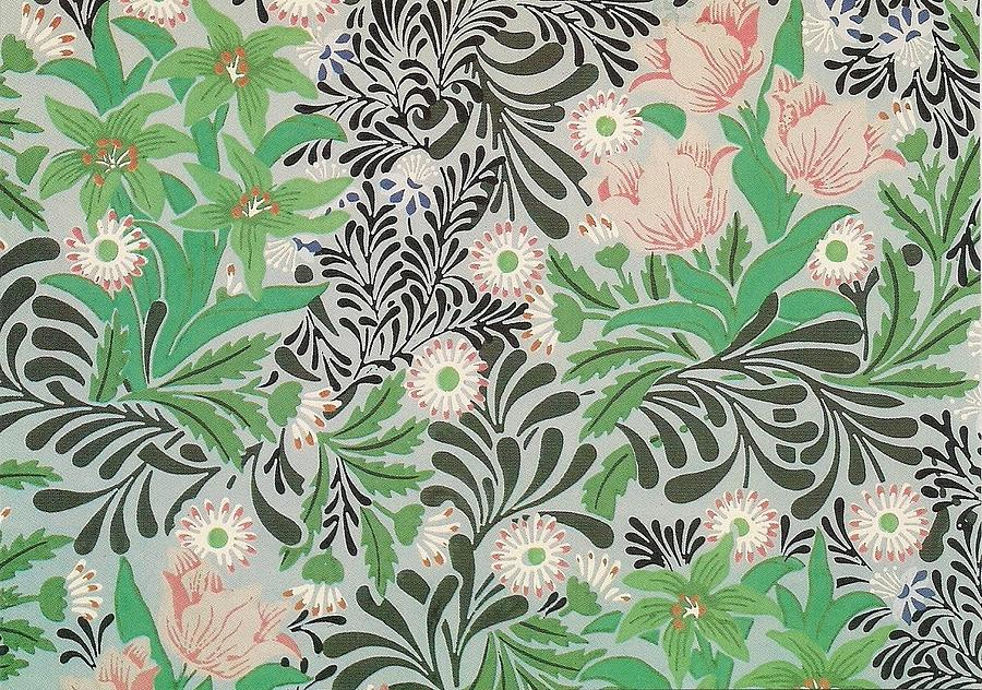 Floral Design Tapestry Textile By William Morris
