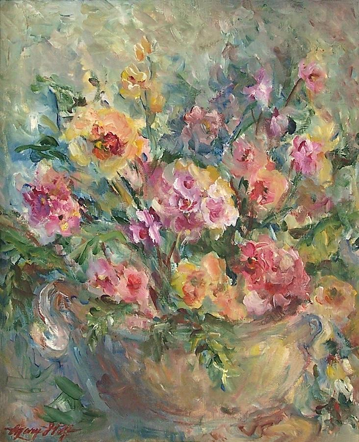 Floral Painting Painting By Mary Wolf
