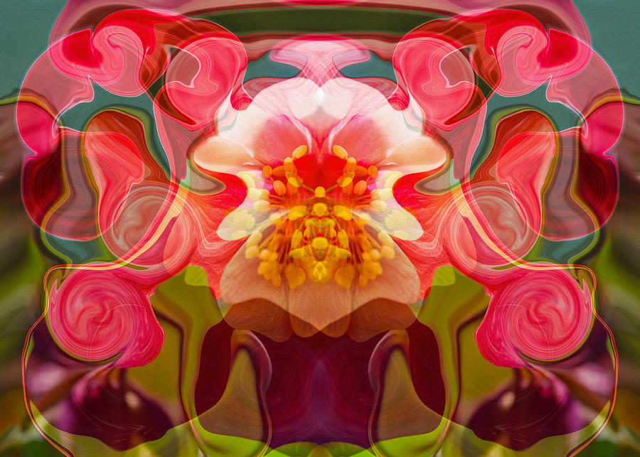 Abstract Painting - Flower Child by Omaste Witkowski