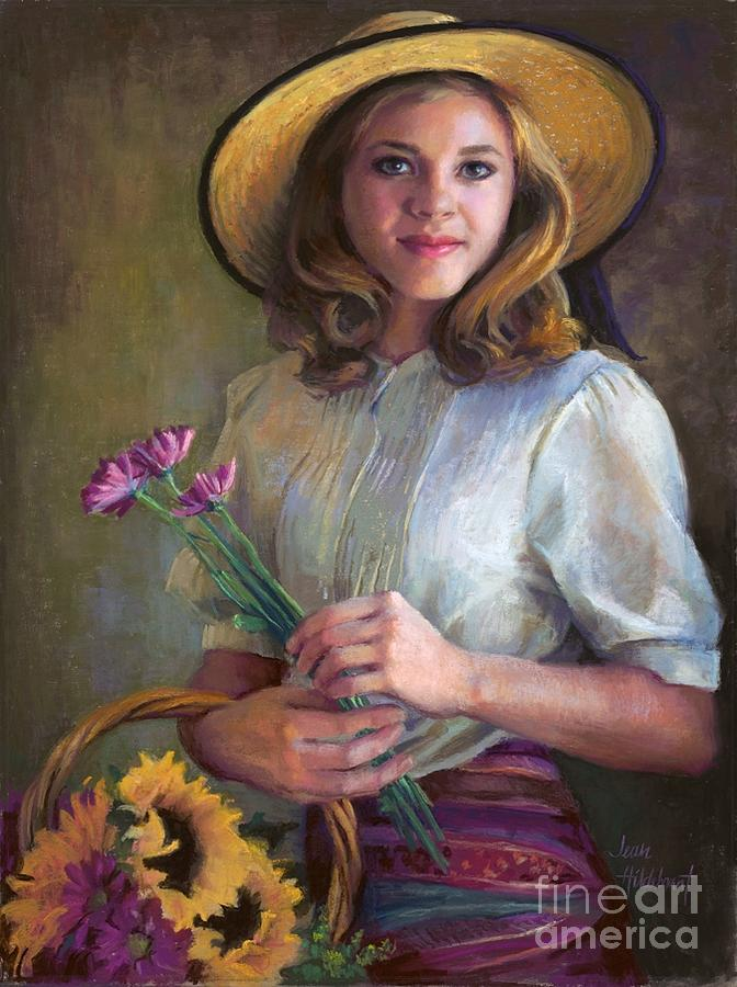 Flower Peddler by Jean Hildebrant