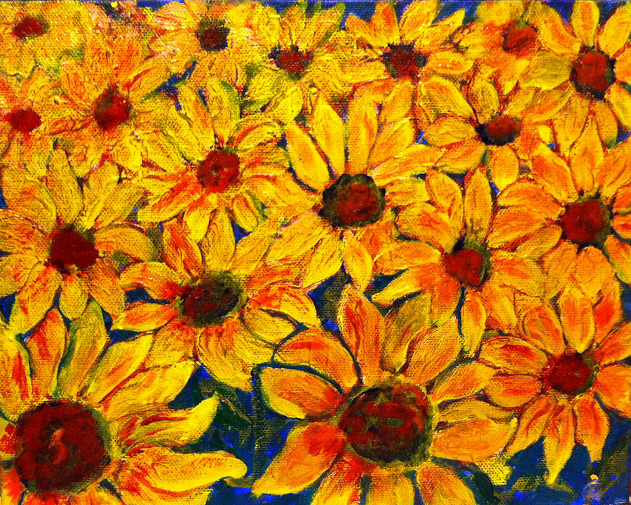 Flowers Painting by Don Thibodeaux