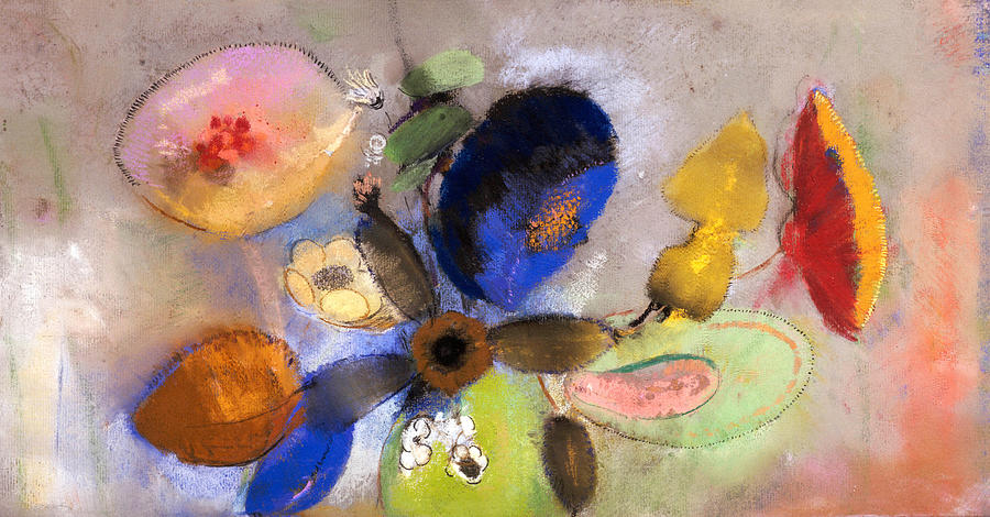 Redon Painting - Flowers by Odilon Redon