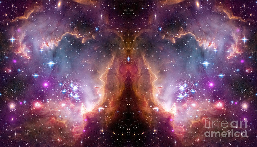 Flying Purple Butterfly Abstract Space Art 2