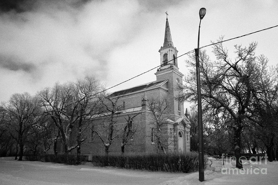 Former Photograph - former st josephs catholic church in Forget Saskatchewan Canada by Joe Fox